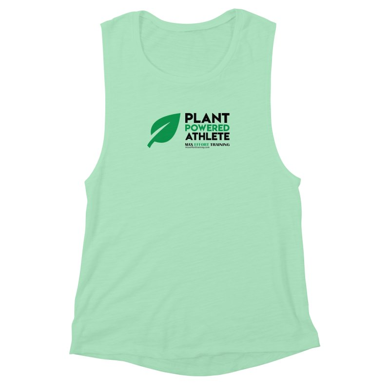 Plant Powered Athlete - Black Women's Muscle Tank by Max Effort Training