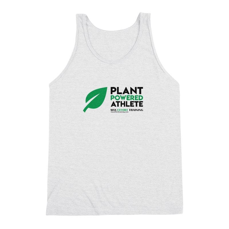 Plant Powered Athlete - Black Men's Triblend Tank by Max Effort Training