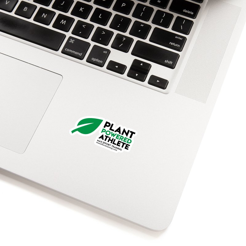 Plant Powered Athlete - Black Accessories Sticker by Max Effort Training