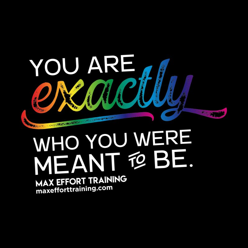 Who You Are - White Accessories Bag by Max Effort Training