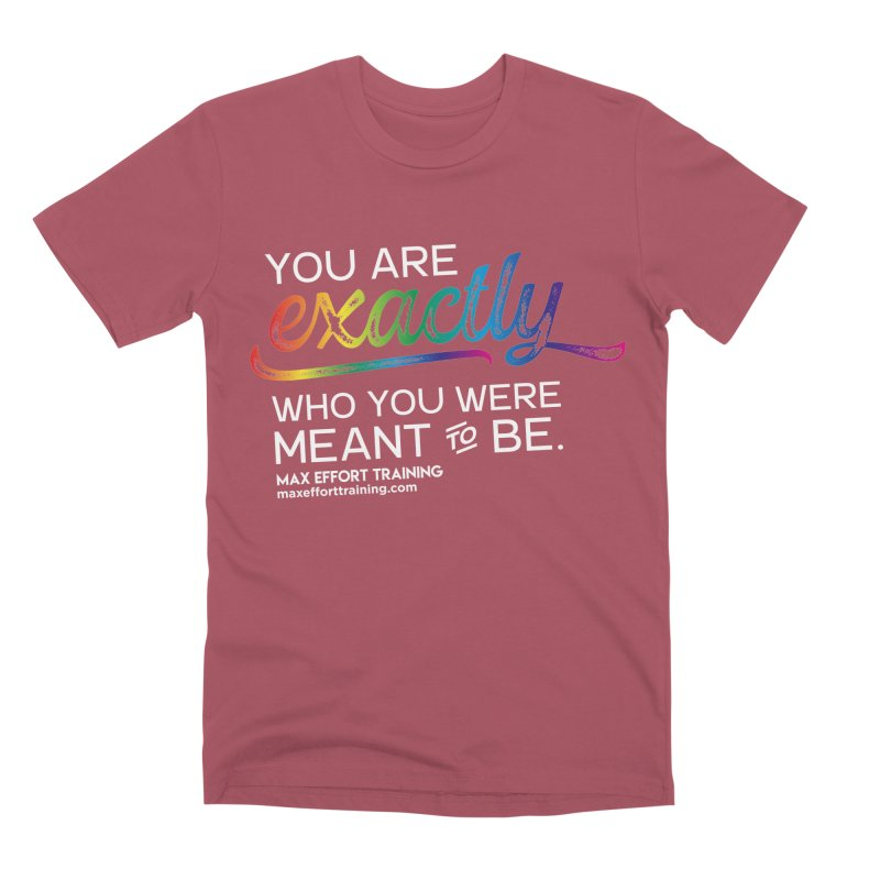 Who You Are - White Men's Premium T-Shirt by Max Effort Training