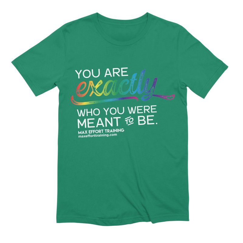 Who You Are - White Men's Extra Soft T-Shirt by Max Effort Training