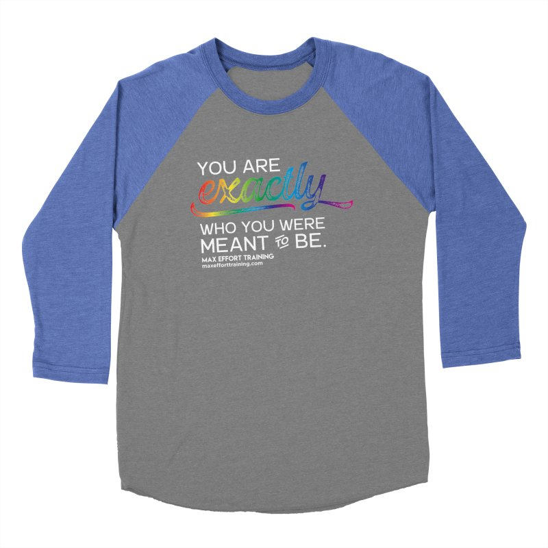 Who You Are - White Women's Baseball Triblend Longsleeve T-Shirt by Max Effort Training