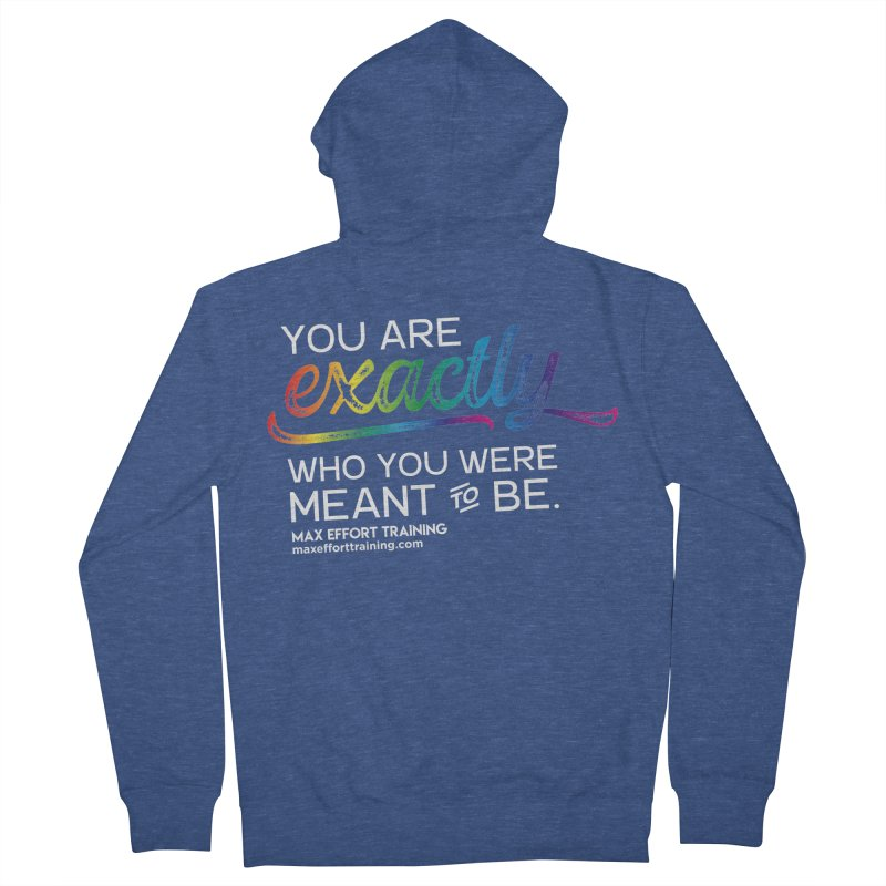 Who You Are - White Women's French Terry Zip-Up Hoody by Max Effort Training