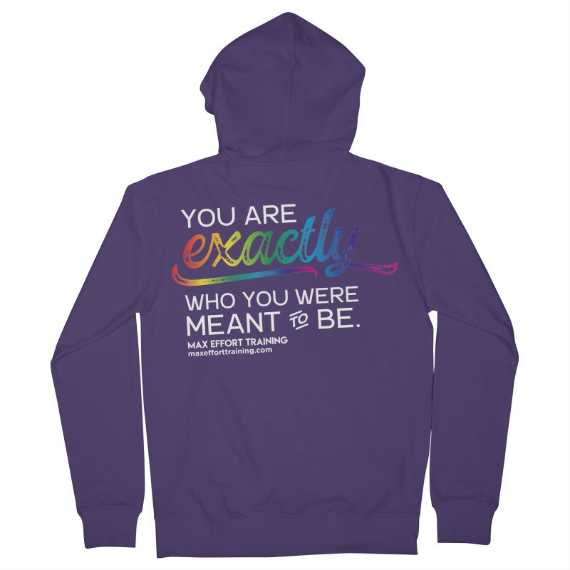 Who You Are - White Women's Zip-Up Hoody by Max Effort Training