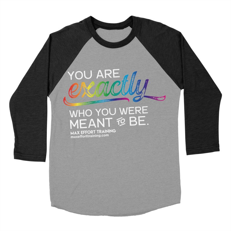 Who You Are - White Men's Baseball Triblend Longsleeve T-Shirt by Max Effort Training