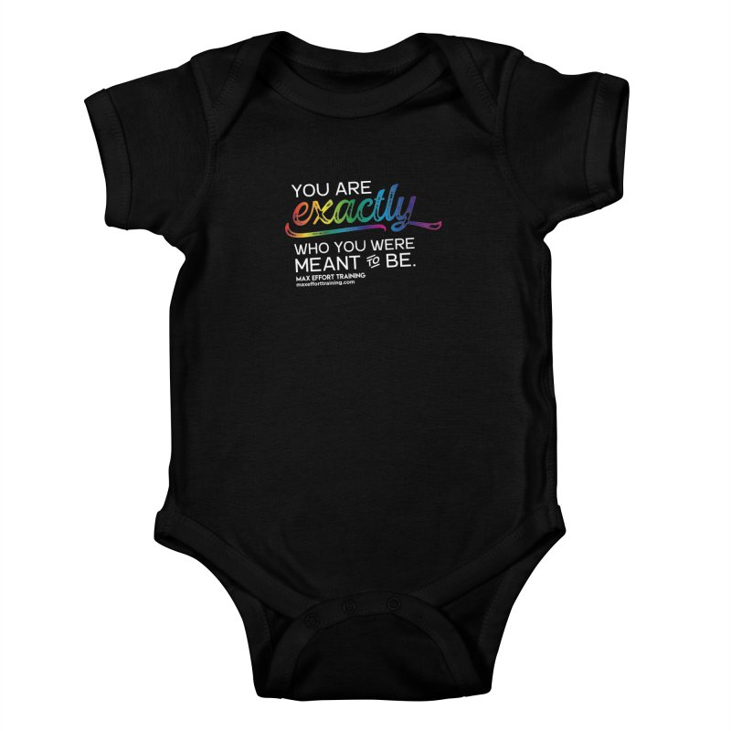 Who You Are - White Kids Baby Bodysuit by Max Effort Training
