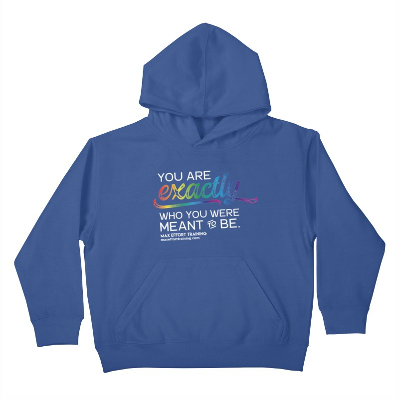 Who You Are - White Kids Pullover Hoody by Max Effort Training