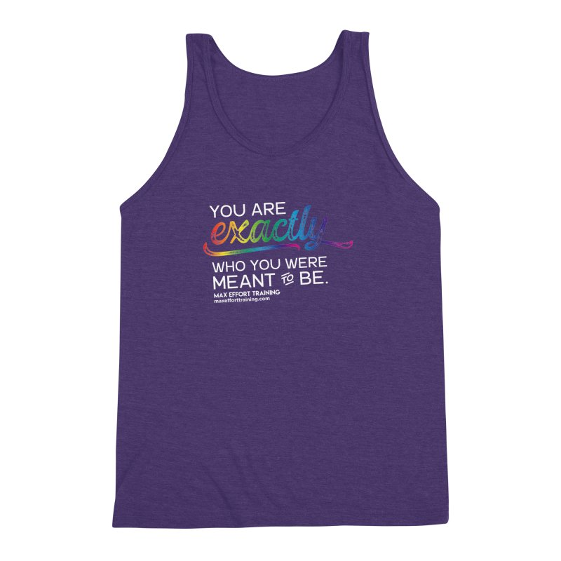 Who You Are - White Men's Triblend Tank by Max Effort Training