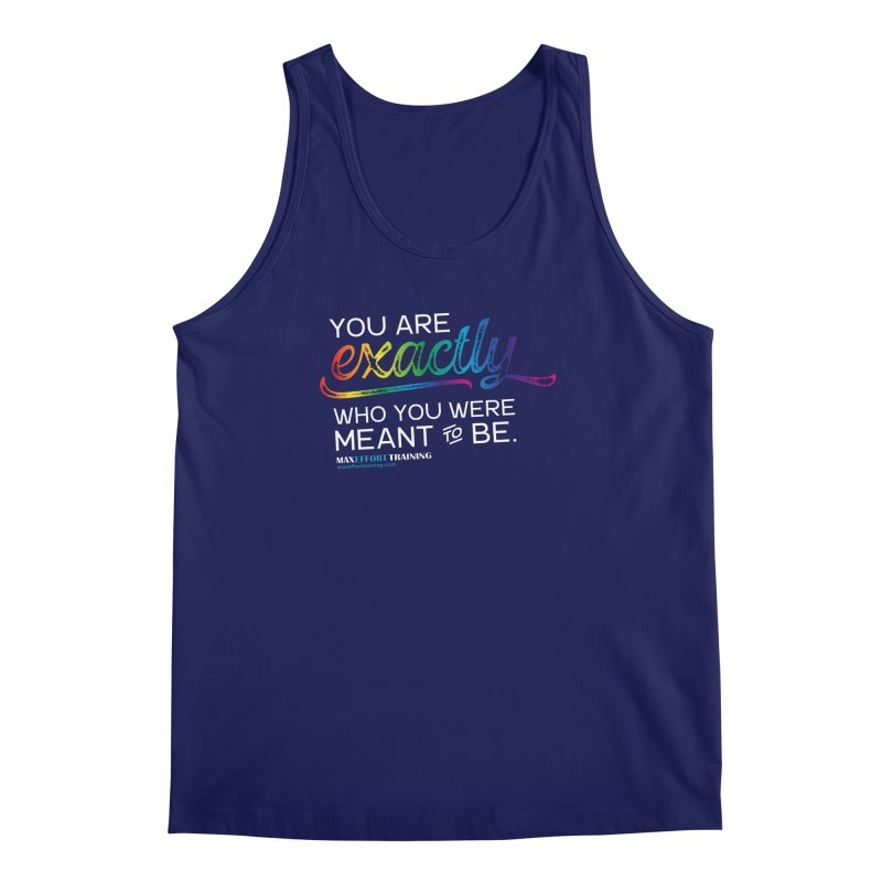 Who You Are - White Men's Regular Tank by Max Effort Training