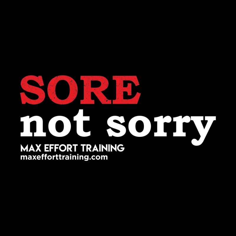 Sore-Not Sorry (White) Kids Baby Zip-Up Hoody by Max Effort Training