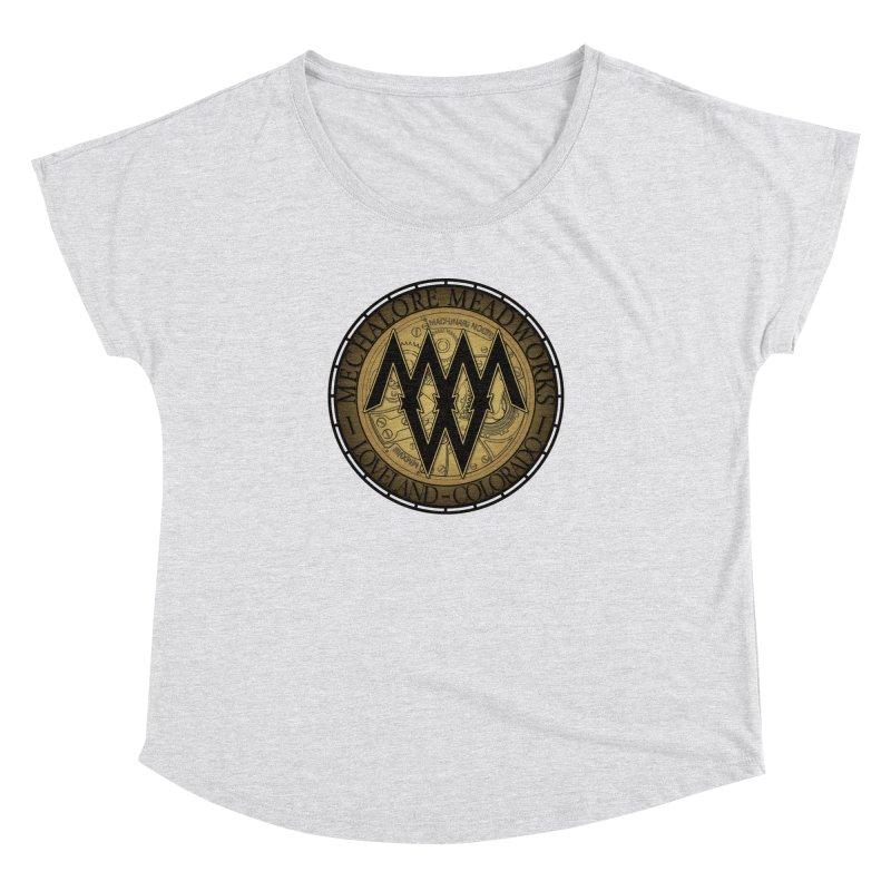 MMW Logo Gear Women's Dolman Scoop Neck by MMW's Artist Shop