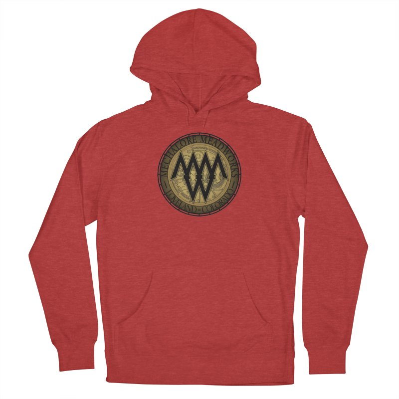 MMW Classic Logo - Cold Weather Gear in Men's French Terry Pullover Hoody Heather Red by MMW's Artist Shop
