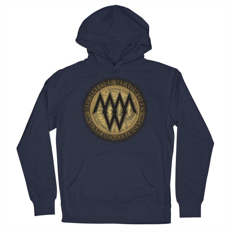 MMW Classic Logo - Cold Weather Gear Men's French Terry Pullover Hoody by MMW's Artist Shop