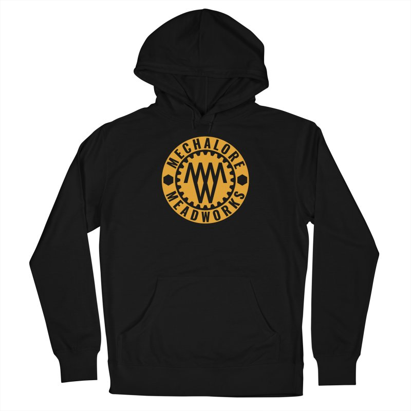 MMW Modern Logo Honeybee Orange in Men's French Terry Pullover Hoody Black by MMW's Artist Shop