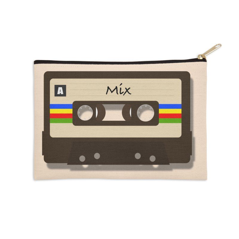 Mix Tape Accessories Zip Pouch by MMXVII Designs