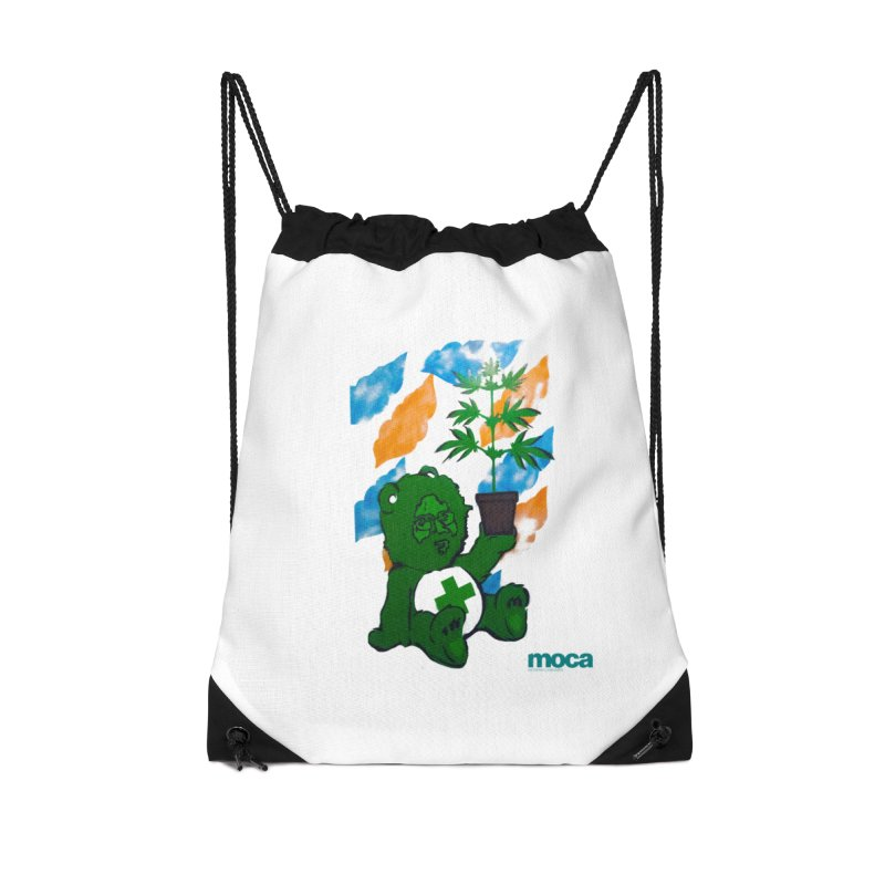Glass Cuisine Accessories Drawstring Bag Bag by MOCA