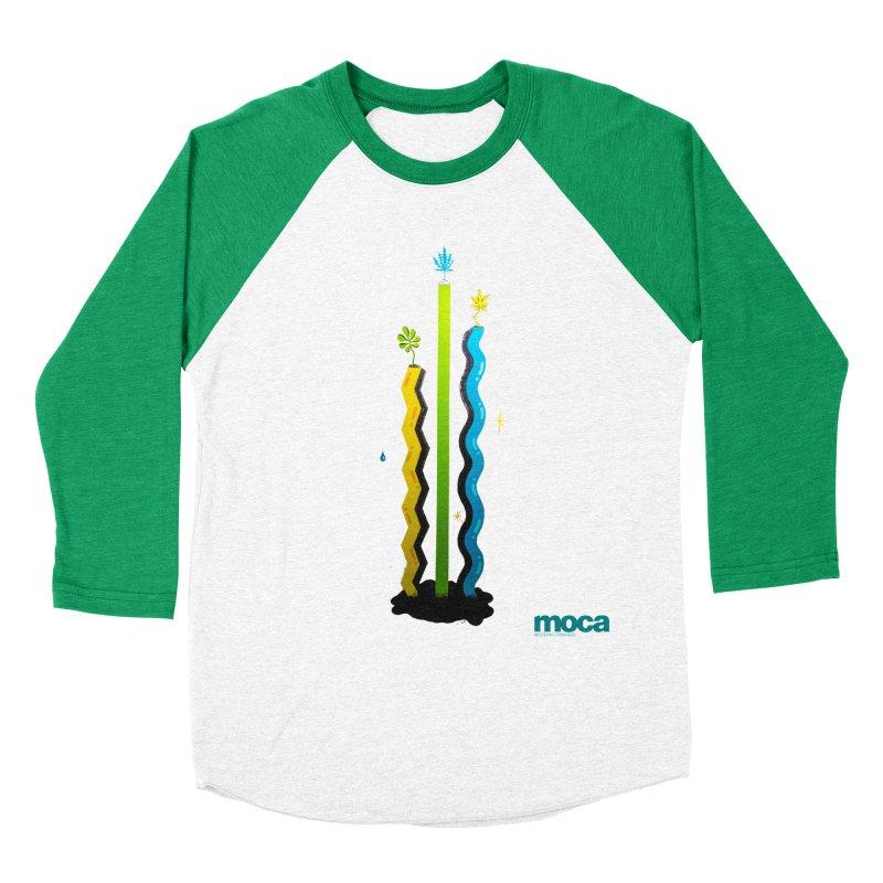 Louie C Women's Baseball Triblend Longsleeve T-Shirt by MOCA