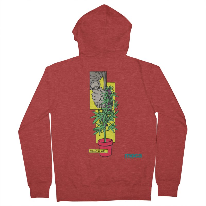 Mosher Show Men's French Terry Zip-Up Hoody by MOCAshop's Artist Shop