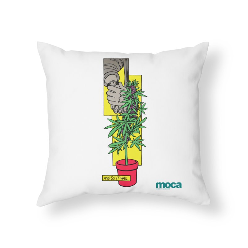 Mosher Show Home Throw Pillow by MOCA