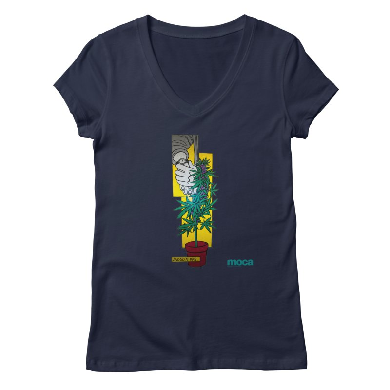 Mosher Show Women's V-Neck by MOCAshop's Artist Shop