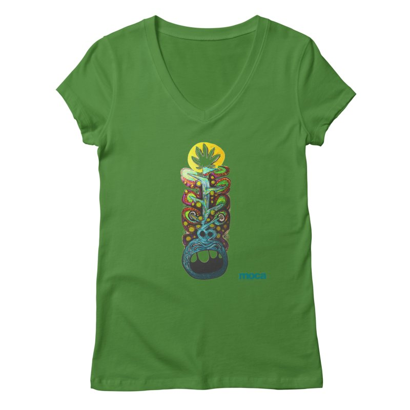 Pat Kneer Women's V-Neck by MOCAshop's Artist Shop