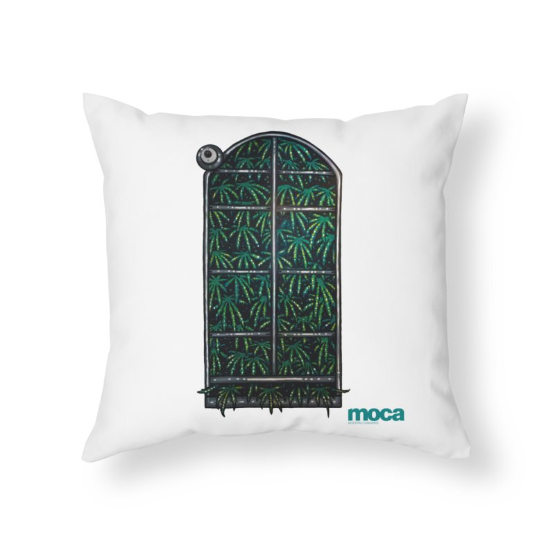Sick Fisher Home Throw Pillow by MOCA