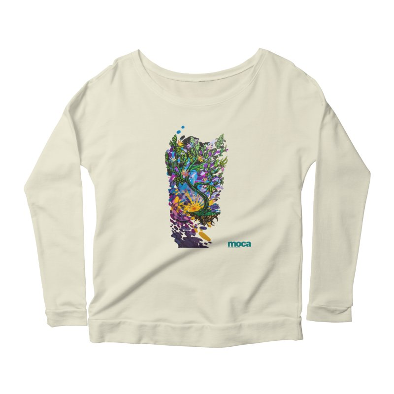 Wreckzilla Women's Scoop Neck Longsleeve T-Shirt by MOCAshop's Artist Shop