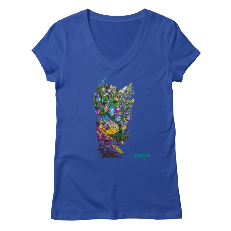 Wreckzilla Women's V-Neck by MOCA