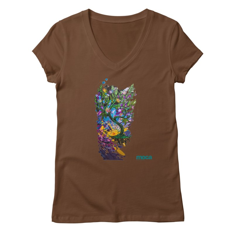 Wreckzilla Women's V-Neck by MOCAshop's Artist Shop