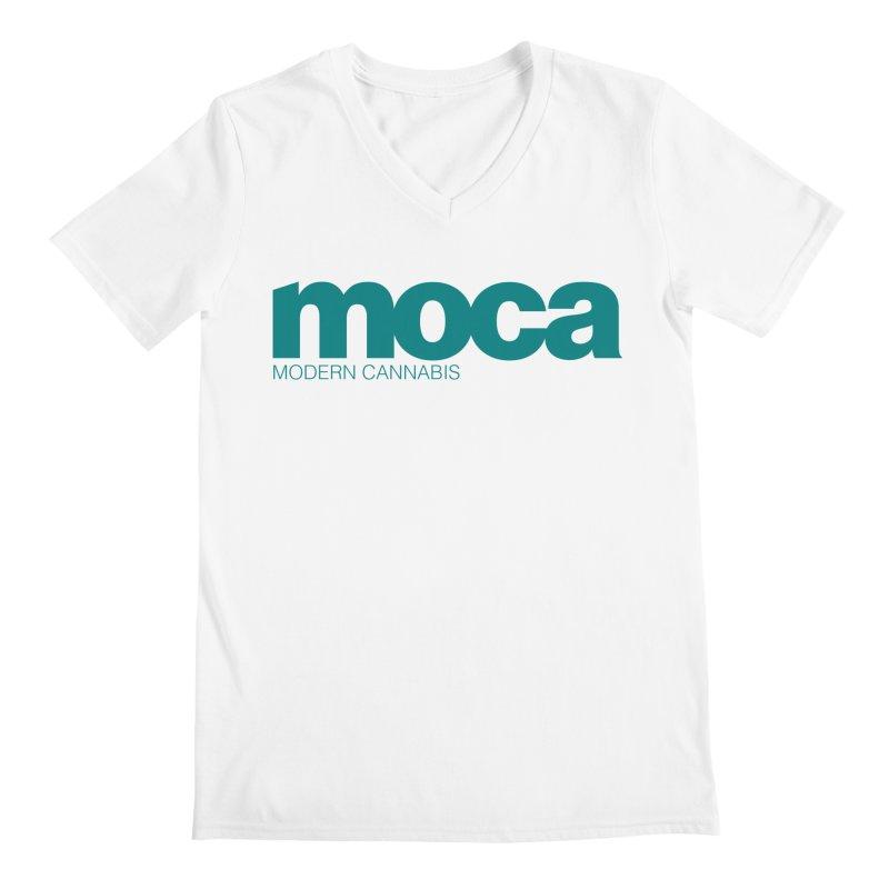 MOCA Logo Men's V-Neck by MOCA
