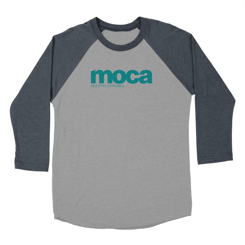 MOCA Logo Women's Baseball Triblend Longsleeve T-Shirt by MOCA