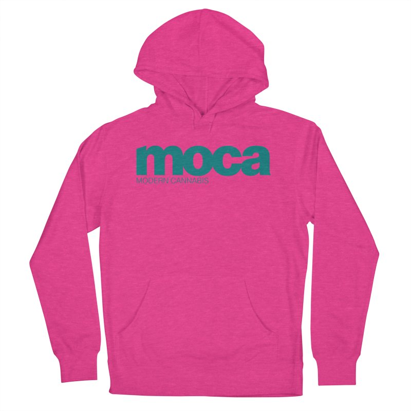 MOCA Logo Women's French Terry Pullover Hoody by MOCAshop's Artist Shop
