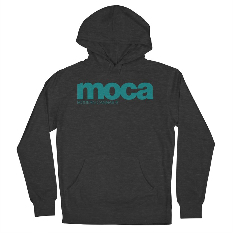 MOCA Logo Men's French Terry Pullover Hoody by MOCAshop's Artist Shop
