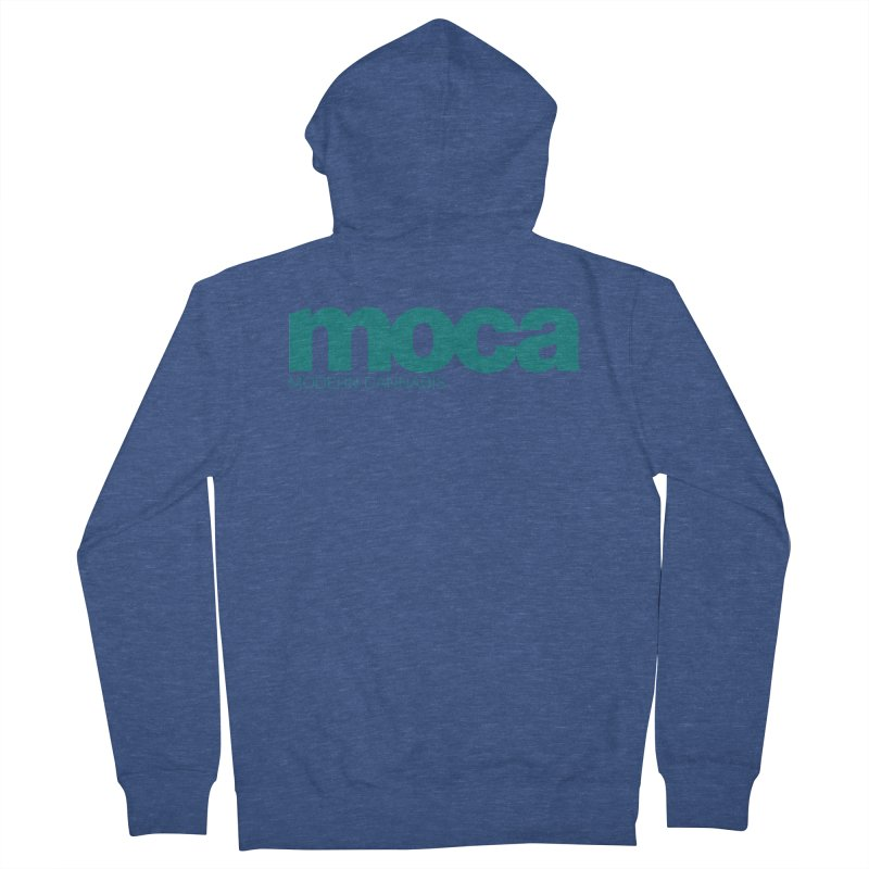 MOCA Logo Women's French Terry Zip-Up Hoody by MOCAshop's Artist Shop