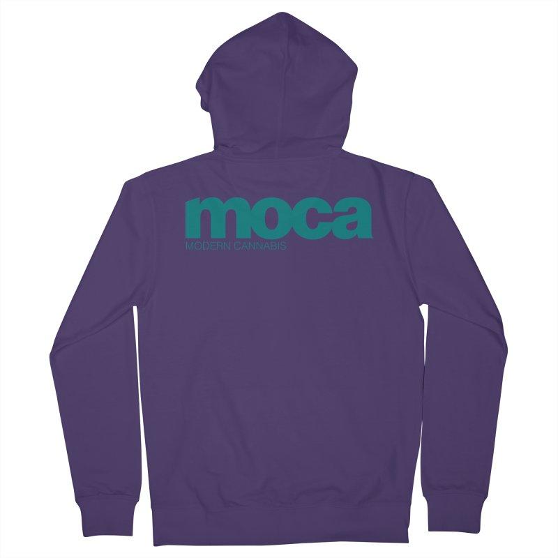 MOCA Logo Women's French Terry Zip-Up Hoody by MOCA