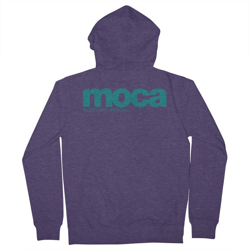 MOCA Logo Men's French Terry Zip-Up Hoody by MOCA