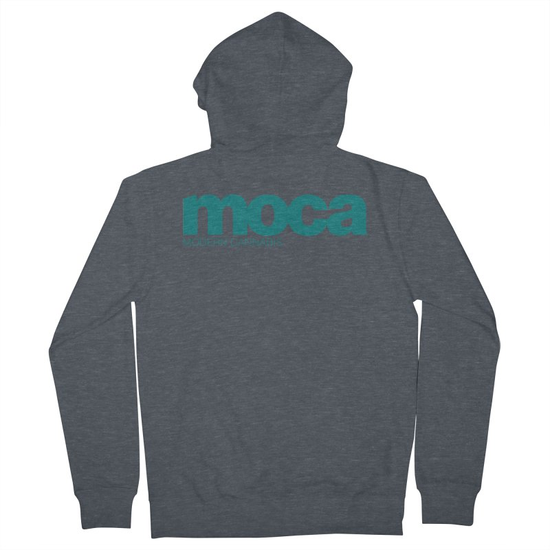 MOCA Logo Men's French Terry Zip-Up Hoody by MOCA