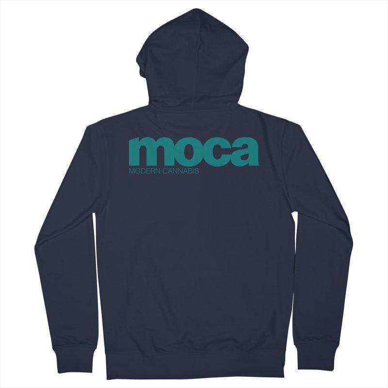 MOCA Logo Men's Zip-Up Hoody by MOCA