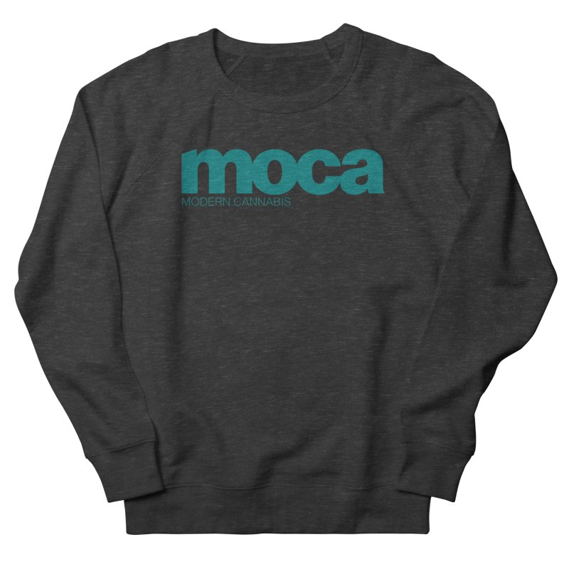 MOCA Logo Women's French Terry Sweatshirt by MOCAshop's Artist Shop
