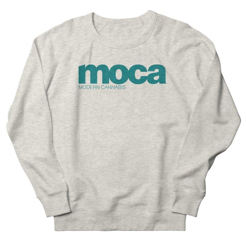 MOCA Logo Women's French Terry Sweatshirt by MOCAshop's Artist Shop