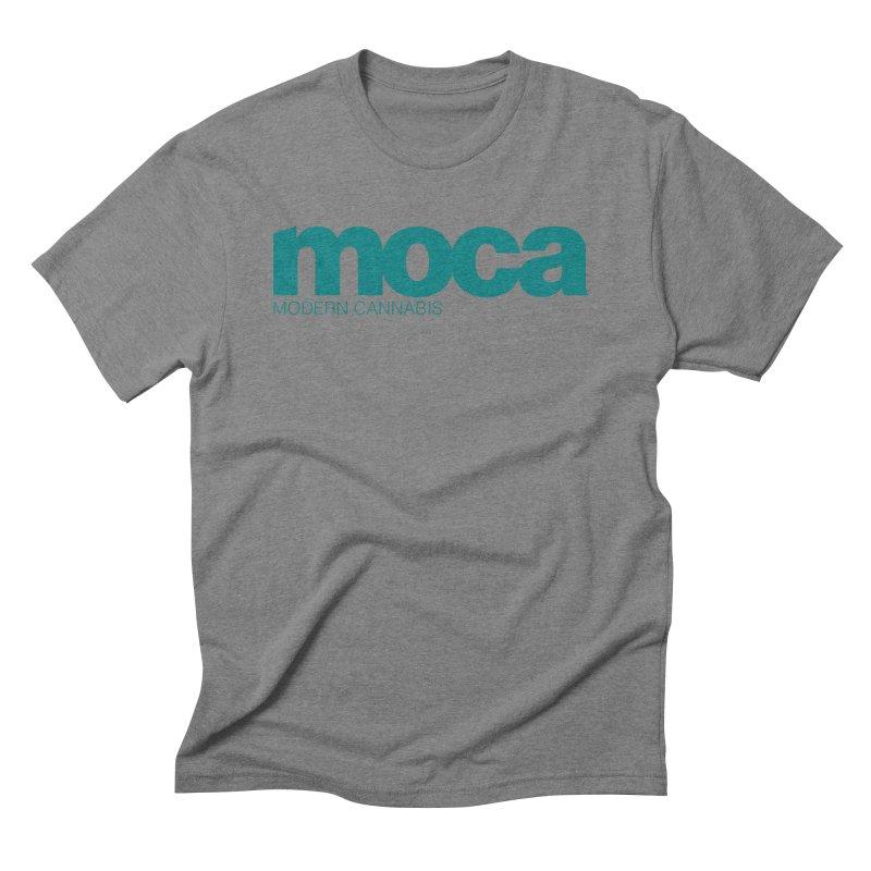 MOCA Logo Men's Triblend T-Shirt by MOCAshop's Artist Shop
