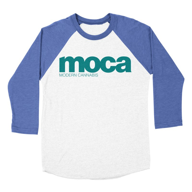 MOCA Logo Men's Baseball Triblend Longsleeve T-Shirt by MOCA