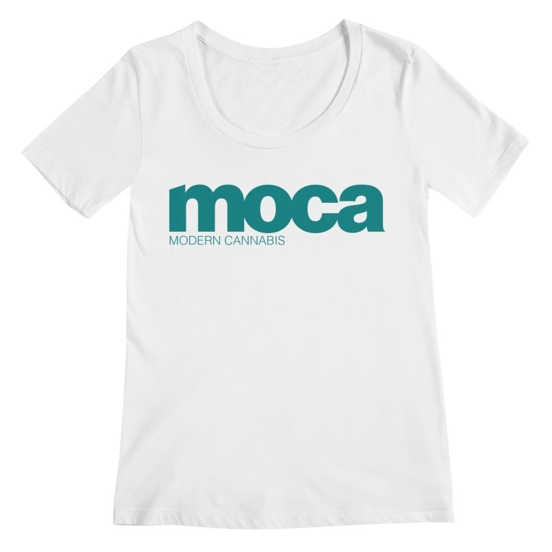 MOCA Logo Women's Regular Scoop Neck by MOCA