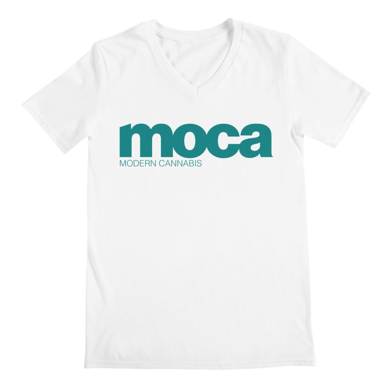 MOCA Logo Men's V-Neck by MOCA
