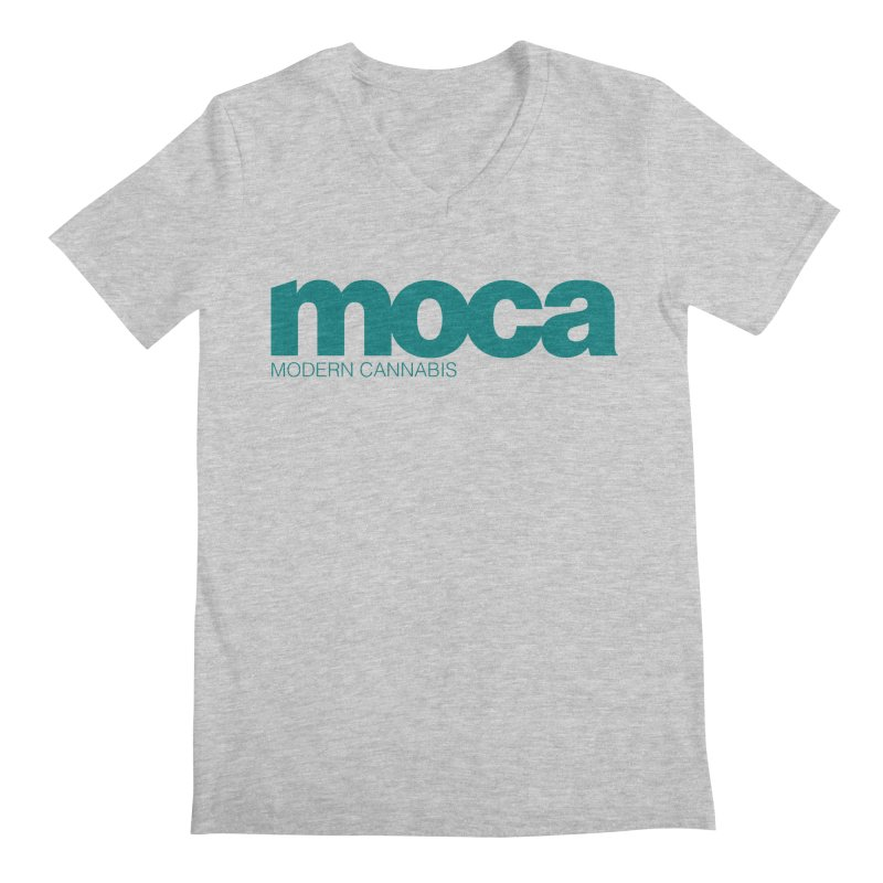 MOCA Logo Men's V-Neck by MOCAshop's Artist Shop