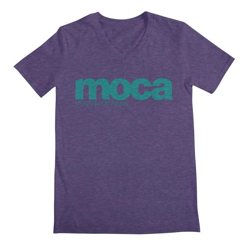 MOCA Logo Men's Regular V-Neck by MOCA