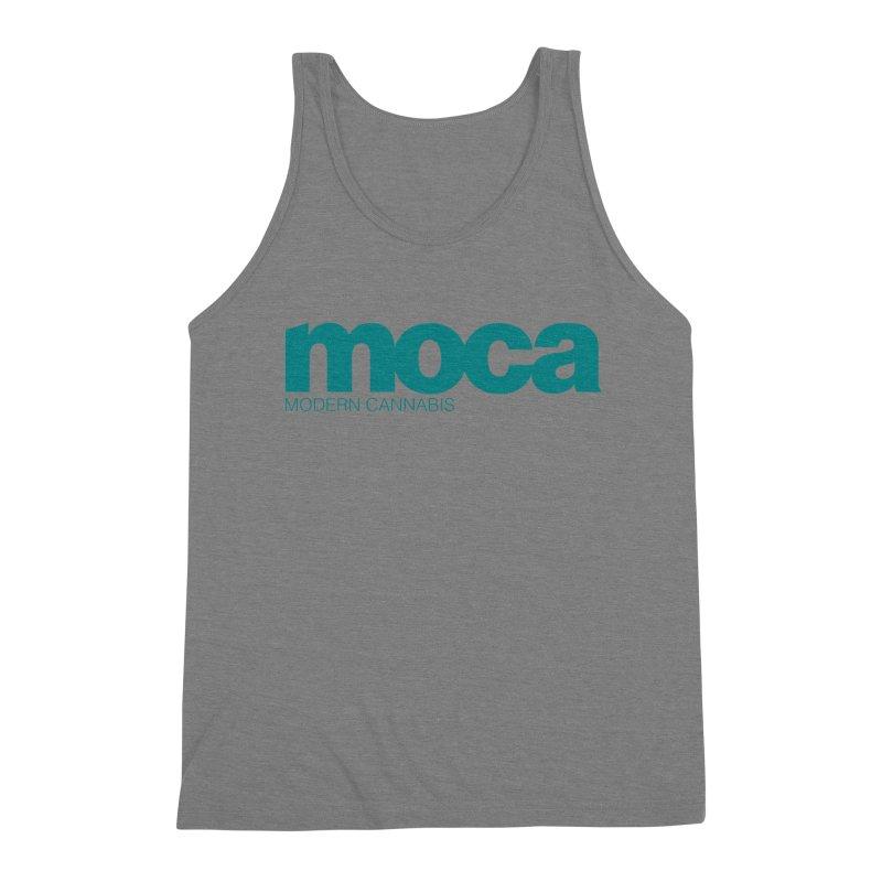 MOCA Logo Men's Triblend Tank by MOCA