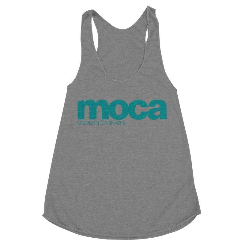 MOCA Logo Women's Racerback Triblend Tank by MOCA