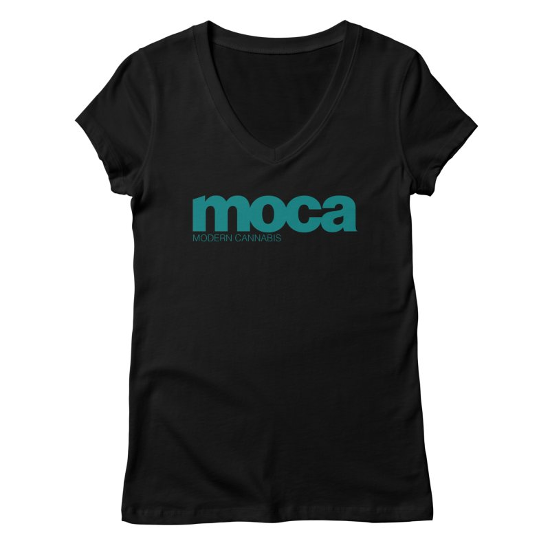 MOCA Logo Women's V-Neck by MOCAshop's Artist Shop